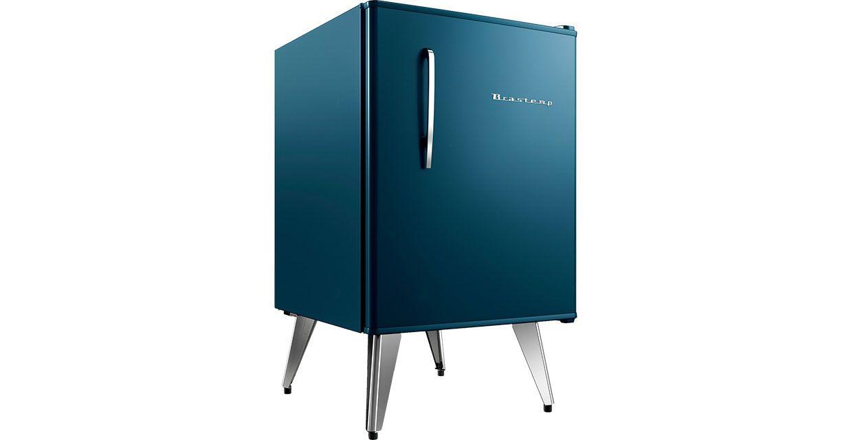Sala De Tv Com Frigobar Retro ~ Frigobar 76 litros Brastemp retrô na cor azul, preto e outras
